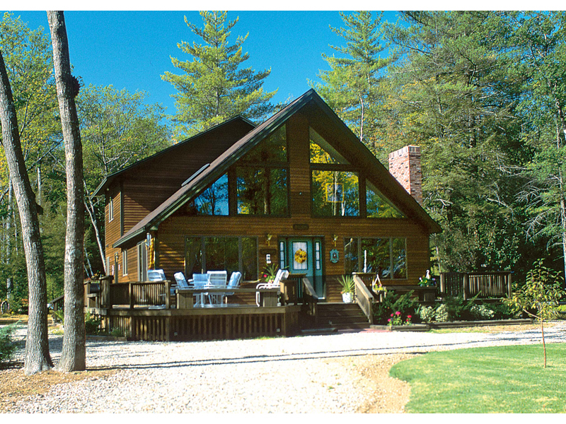 A-Frame Home Plan Front of Home 038D-0002