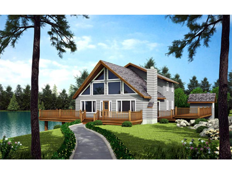 Cabin & Cottage House Plan Front Photo 01 - 038D-0002 | House Plans and More