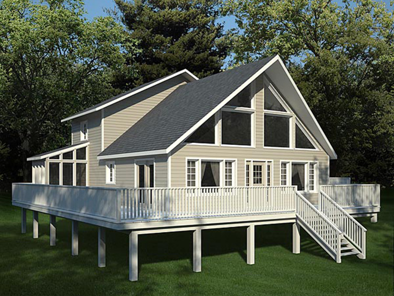 Cabin & Cottage House Plan Front Photo 02 - 038D-0002 | House Plans and More