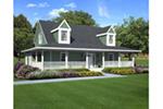 Cape Cod & New England House Plan Front Photo 01 - 038D-0007 | House Plans and More
