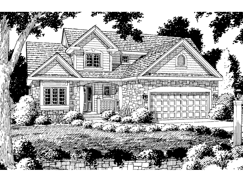 Country French House Plan Front of Home - 038D-0019 | House Plans and More