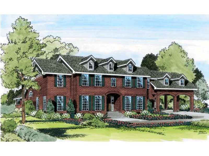 Enormous Georgian Style Home With Broad Arch Design