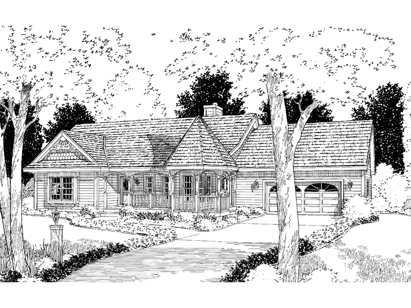 Country House Plan Front of Home - 038D-0041 | House Plans and More