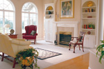 Sunbelt Home Plan Living Room Photo 01 - 038D-0046 | House Plans and More