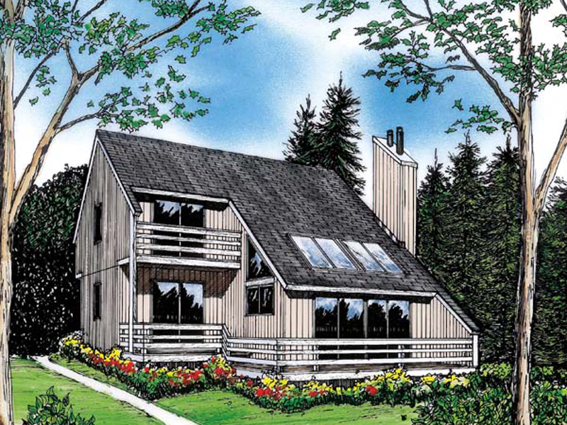 Cabin and Cottage Plan Front Image - 038D-0047 | House Plans and More
