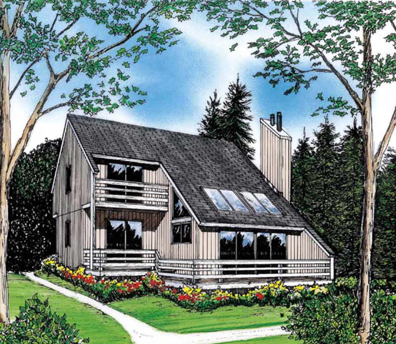 Rustic Home Plan Front of Home - 038D-0047 | House Plans and More