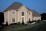 Home Has Stunning Arched Window At Entry