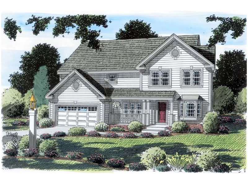 Traditional House Plan Front of Home - 038D-0070 | House Plans and More