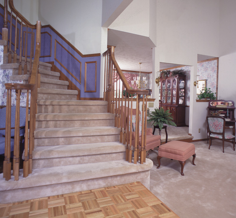 Tudor House Plan Stairs Photo - 038D-0076 | House Plans and More