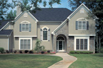 Country French Home Plan Front Photo 01 - 038D-0087 | House Plans and More