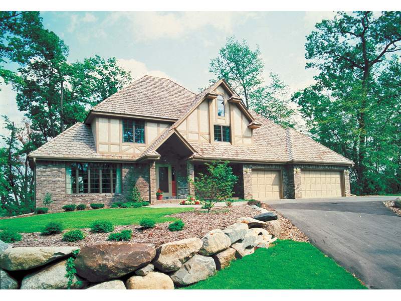 Traditional House Plan Front of Home 038D-0090