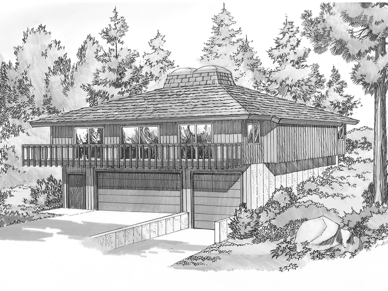 Mountain Home With Second Story Balcony