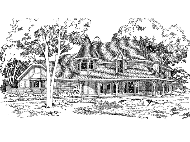 Tudor And Victorian Accented Home