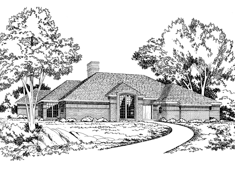 Contemporary Ranch Brick Design
