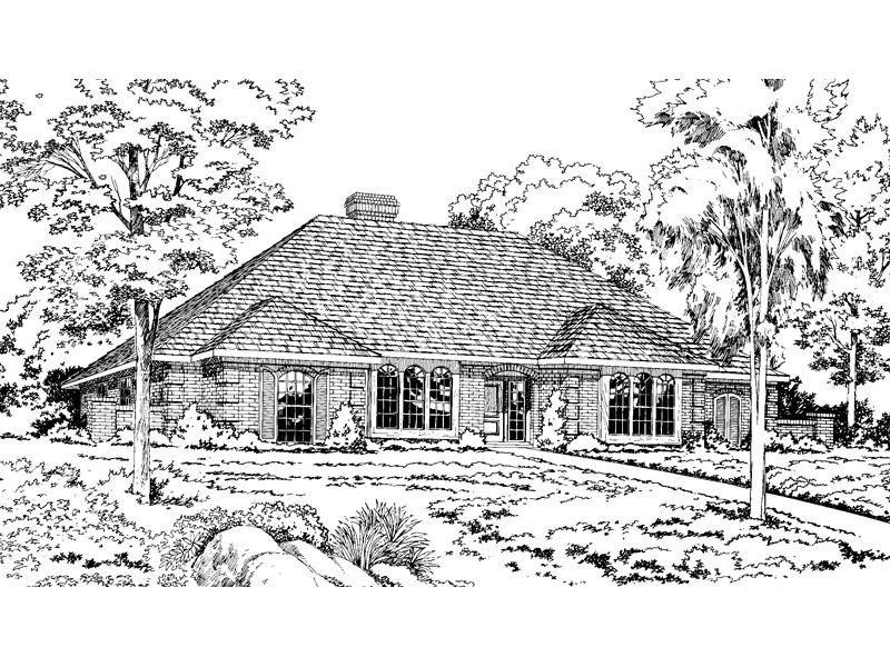 Spacious Window Design Livens This Brick Home