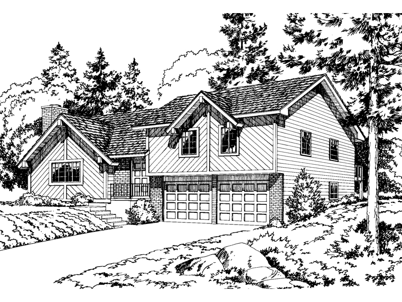 Mountain Home Plan Front of Home 038D-0166