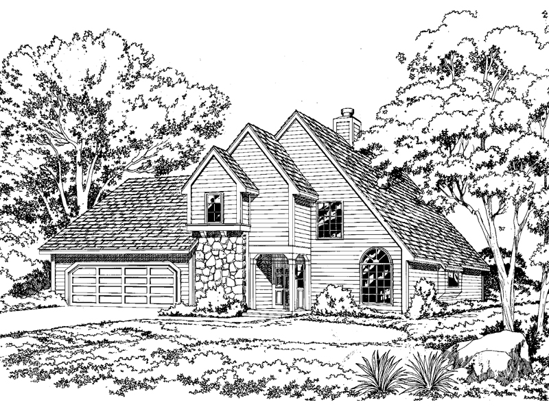 Triple Gables Enhance This Home Plan