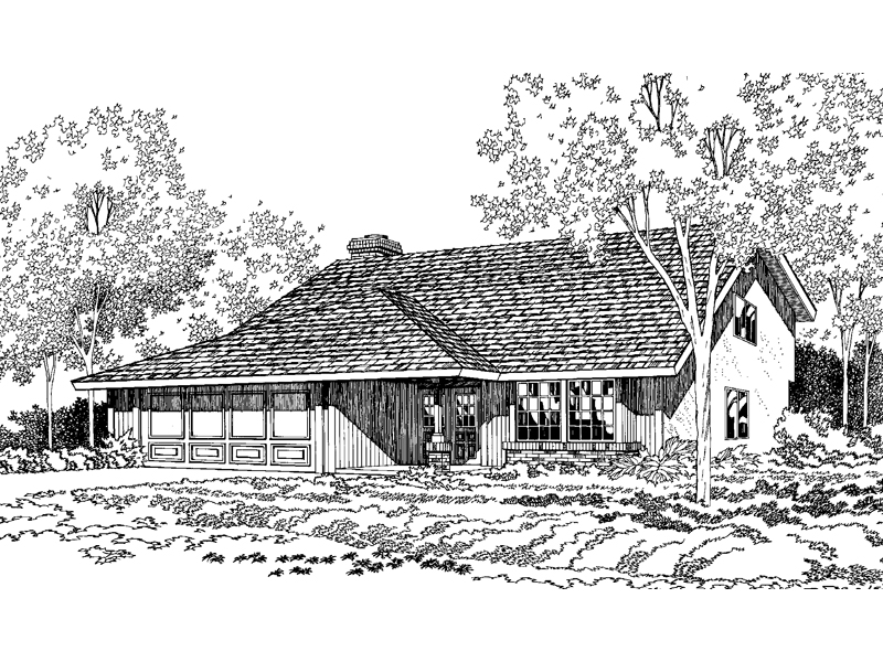 High Styled Country Design With Distict Sloped Roof