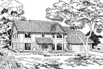 Tudor Home Plan With Stylish Turret