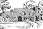 Elegant Home Plan With Large Decorative Windows