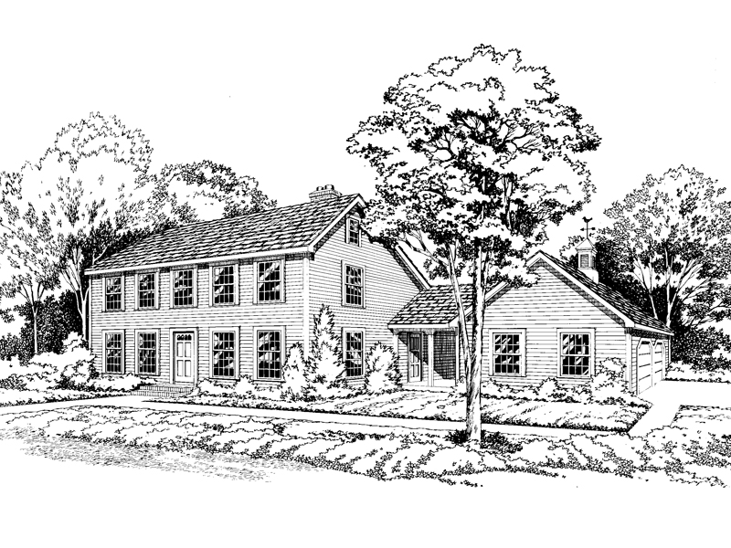 Simply Styled Colonial Design With Early American Touches