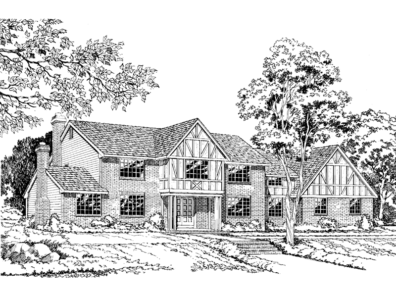 Comfortable, Luxurious Tudor Design With Slight Georgian Style