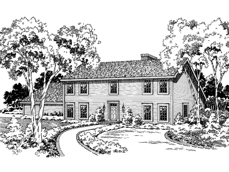 Simple Colonial Styled Home