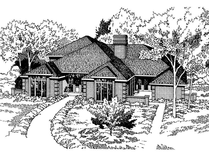 Grand Contemporary Brick Home