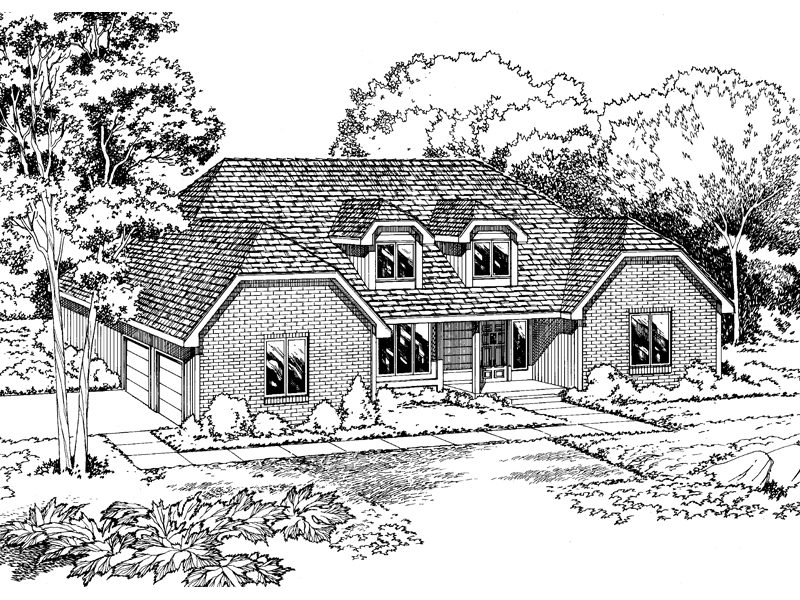 Traditional House Plan Front of Home - 038D-0290 | House Plans and More