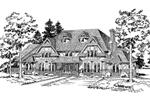 Symmetrical, European Tudor Home Design