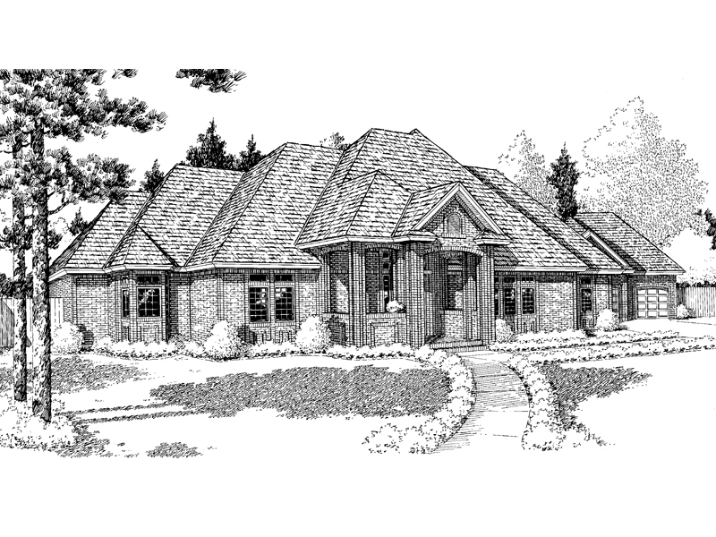 Traditional House Plan Front of Home - 038D-0313 | House Plans and More