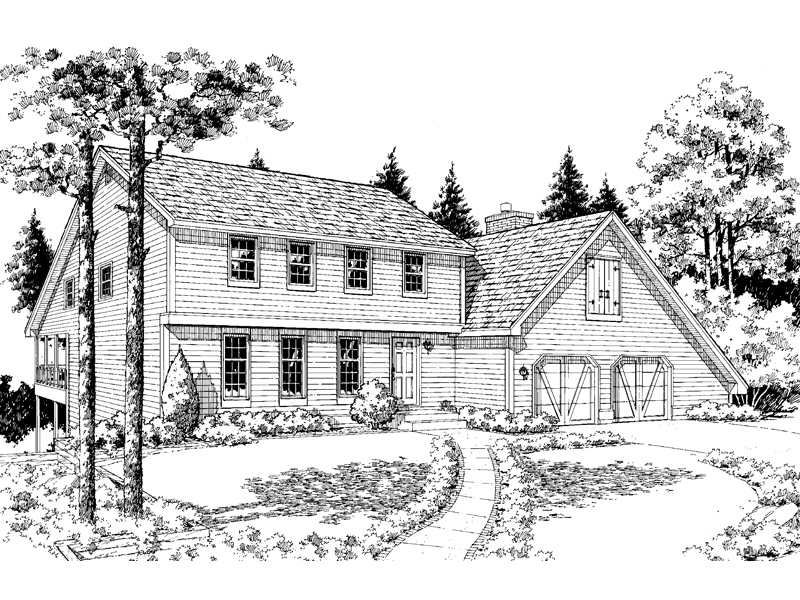 Colonial Home With Country Style