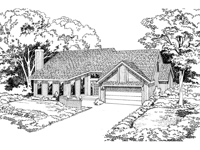 Traditional House Plan Front of Home - 038D-0325 | House Plans and More