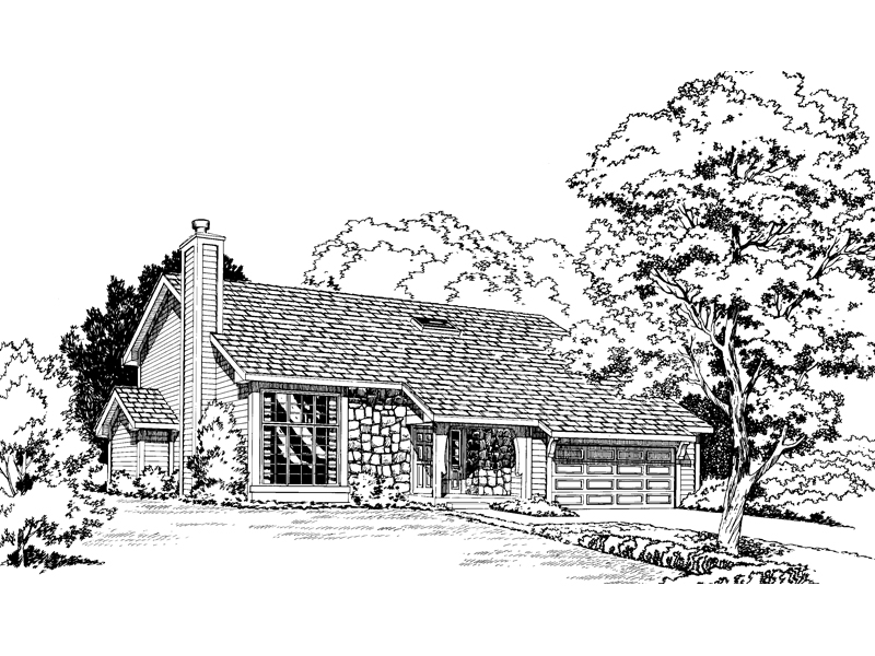 Traditional House Plan Front of Home - 038D-0335 | House Plans and More