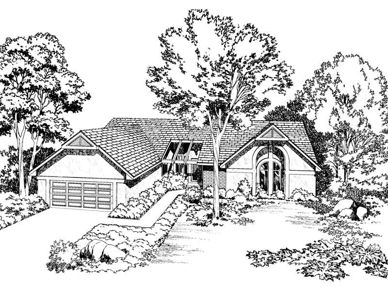 Distinct Ranch Home Design