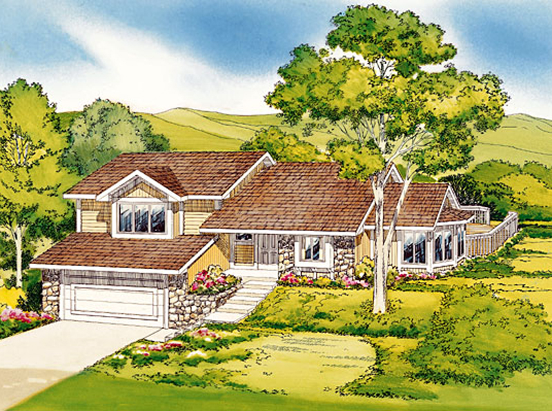 Traditional Plan With Slight Craftsman Style