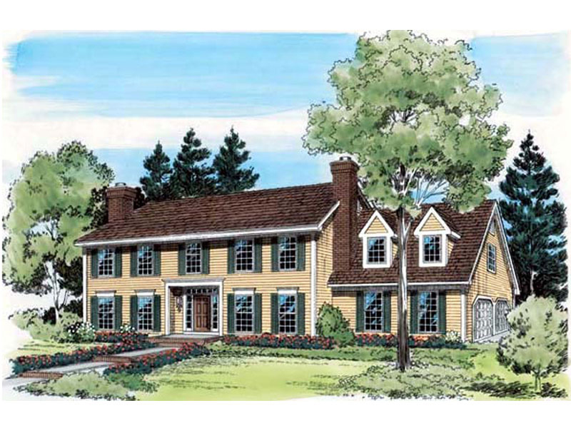 Boursin early american home plan 038d 0389 house plans for Early american house plans