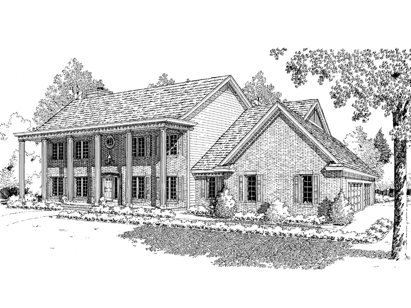 Southern Plantation Design With Grand Pillars