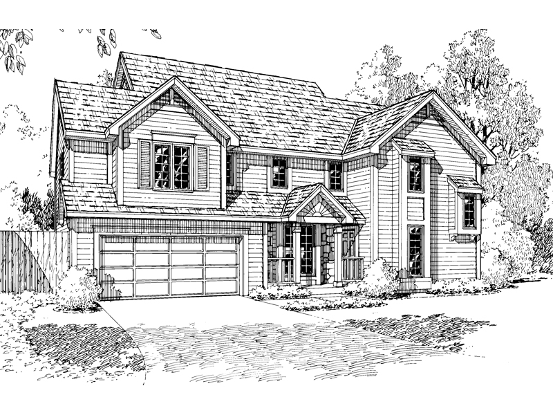 Traditional Home Design With Contemporary Lines
