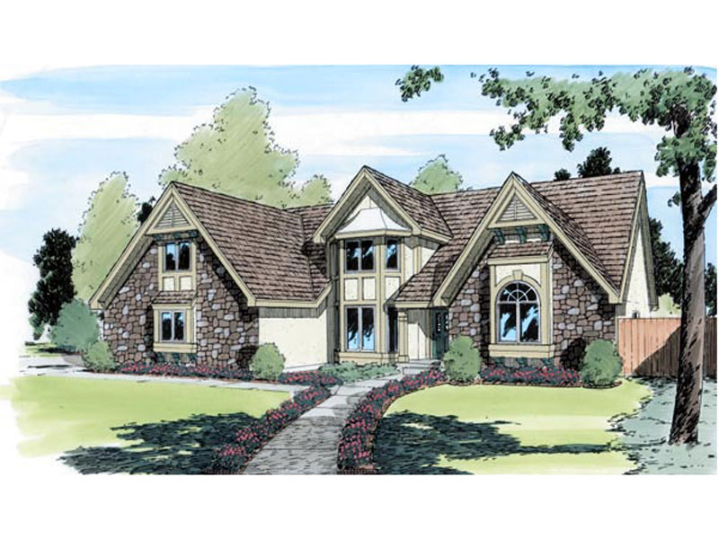 European House Plan Front of Home - 038D-0408 | House Plans and More