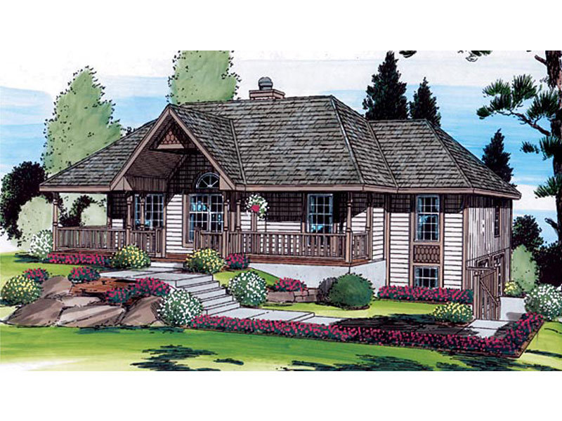 Exquisite Country Design With Hillside Style