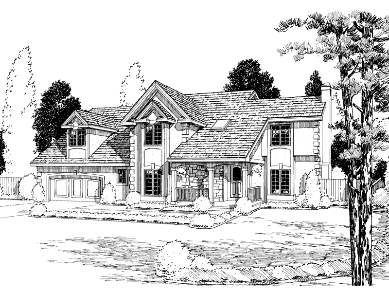 Modern House Plan Front of Home - 038D-0438 | House Plans and More