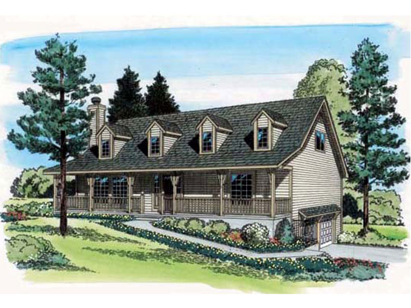 Tudor House Plan Front of Home - 038D-0442 | House Plans and More