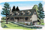 Relaxing Hillside Intended Country Acadian Home Design
