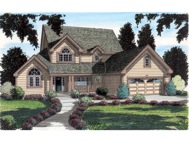 Gratifying Traditional Country Home Plan