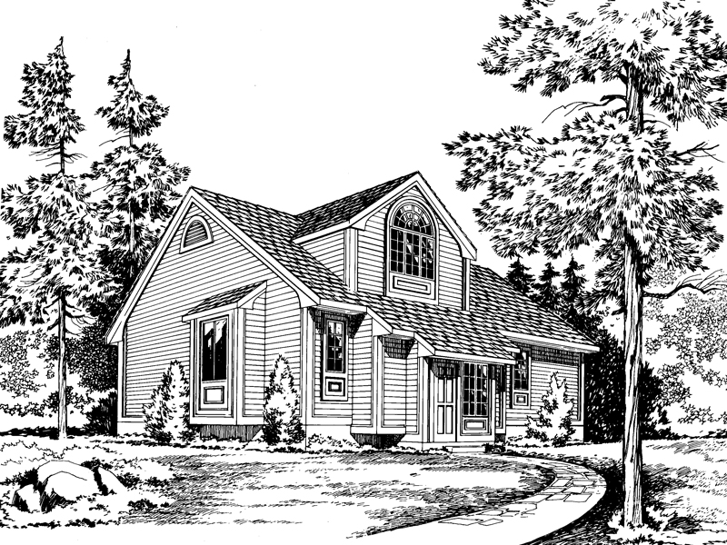 Saltbox House Plan Front of Home - 038D-0452 | House Plans and More