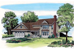 Gingerbread Trim Adds To This Country Home Plan