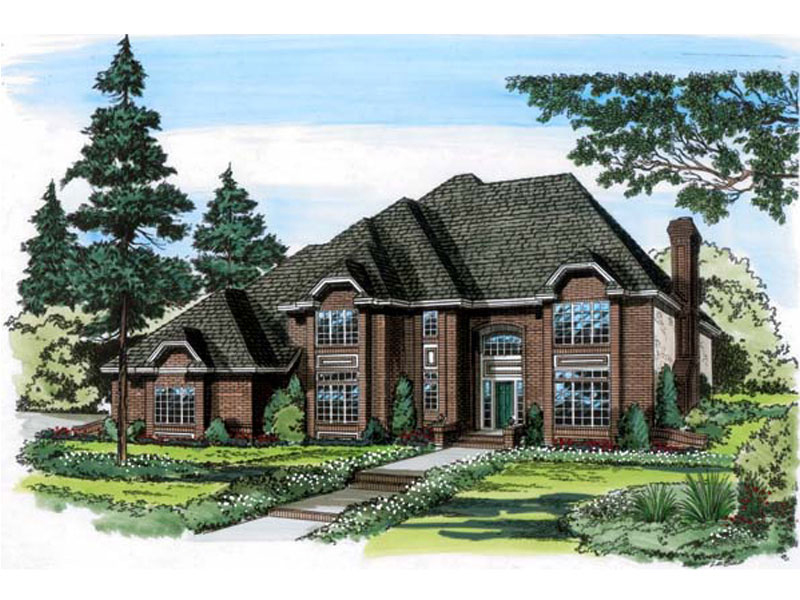 Luxury House Plan Front of Home - 038D-0463 | House Plans and More