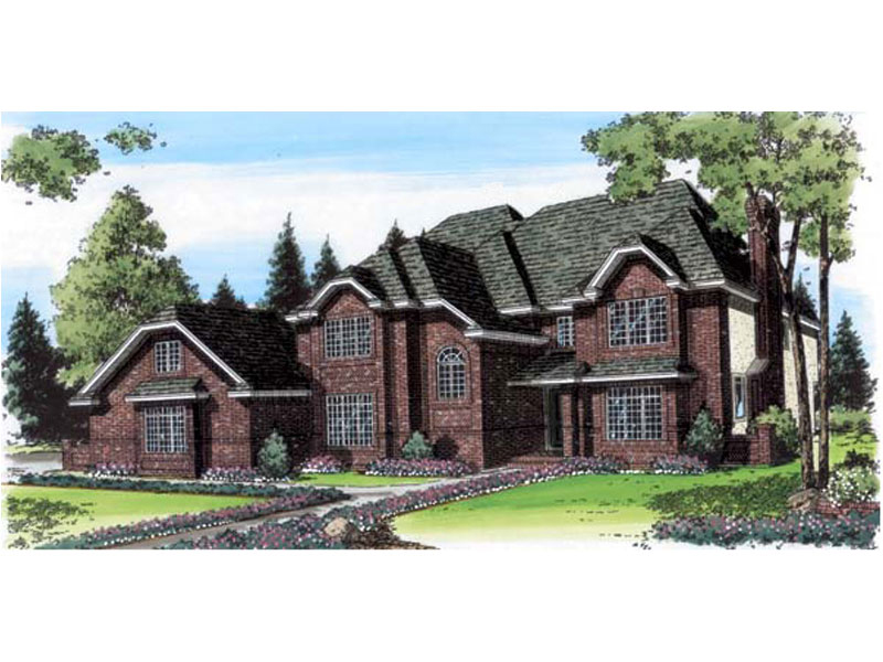 Luxury House Plan Front of Home - 038D-0464   House Plans and More