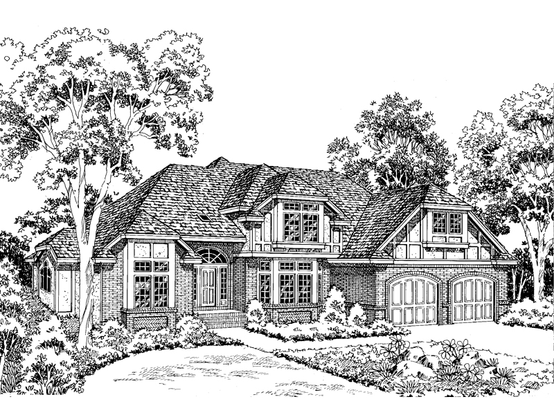 Lovely Tudor Design With Magnificent Curb Appeal
